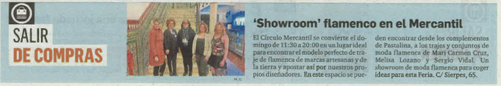 Diario de Sevilla Showroom flamenco en el Mercantil