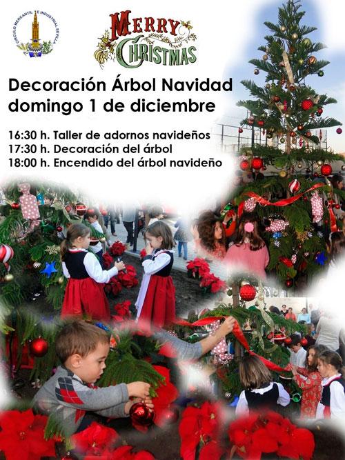 Diciembre se inaugurará con la decoración de nuestro árbol de Navidad