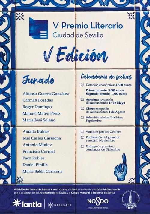 Abierta la convocatoria de la V edición del Premio de Relatos Cortos Ciudad de Sevilla